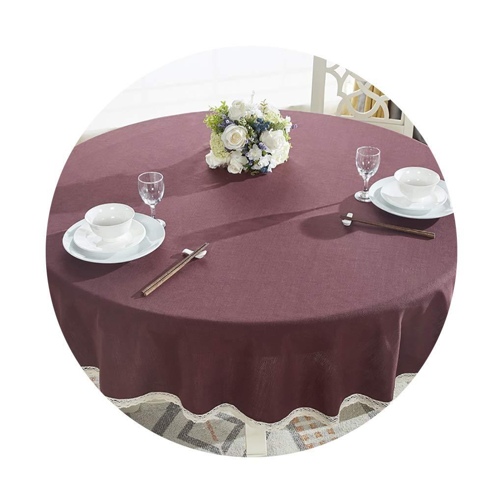 YTJ-JP 円形のテーブルクロス家庭用レストランに適した厚いヨーロッパの円形のコーヒーテーブルクロス (Color : A, Size : 200cm) 200cm A B07SR444L6
