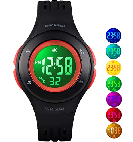 50m Waterproof Childrens Watch Child Sports Swim Watches Kid Electronic Alarm Clock Quartz Movement Double Display Wristwatch G Back To Search Resultswatches