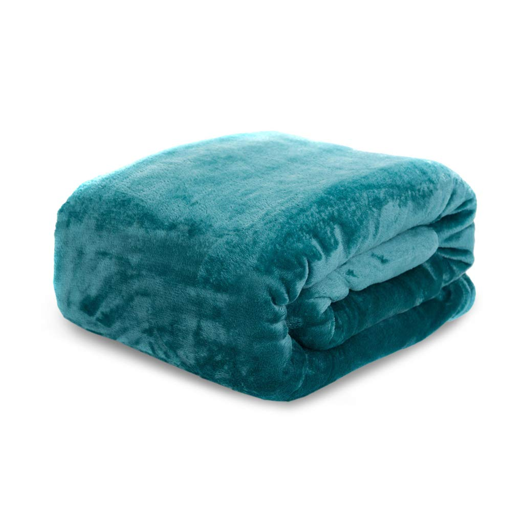 HYSEAS Velvet Throw, Light Weight Plush Luxurious Super Soft and Cozy Fuzzy Anti-Static Throw Blanket for Couch Chair All Seasons, 50