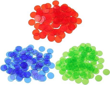 Sharplace 300 Piezas Fichas Translúcidas Bingo Chip Accesorios para Juegos de Mesa: Amazon.es: Juguetes y juegos