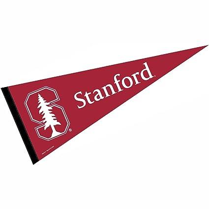 amazon com wincraft stanford pennant full size felt sports