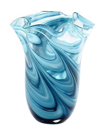 Amazon Exquisite Glass Decor 11 Hand Blown Art Glass Vase Blue