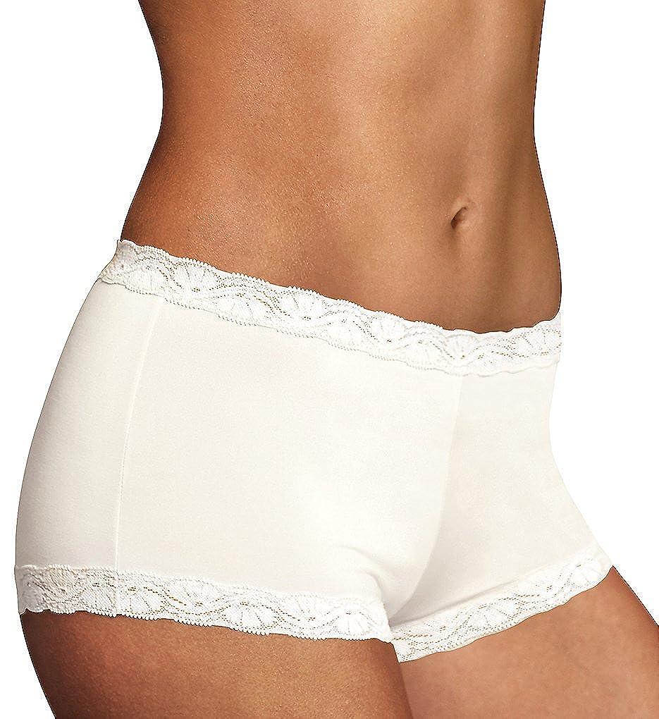 Maidenform Womens Microfiber with Lace Boyshort Panty