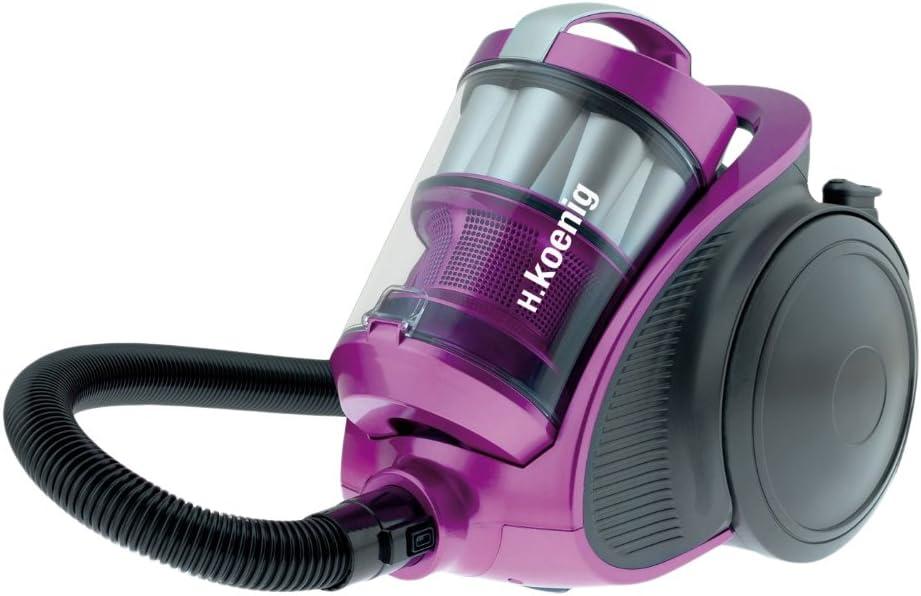 H.Koenig STC90 - Aspirador sin bolsa multiciclónico, 76 db , Filtro HEPA H13, Capacidad 1.5 l, [Clase de eficiencia energética B]: Amazon.es: Hogar