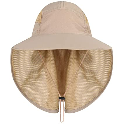65557546 Feitengtd Sun Hat Sports Outdoor Sun Protection Camping Fishing Hat Wide  Brim Face Flap Cover Cap