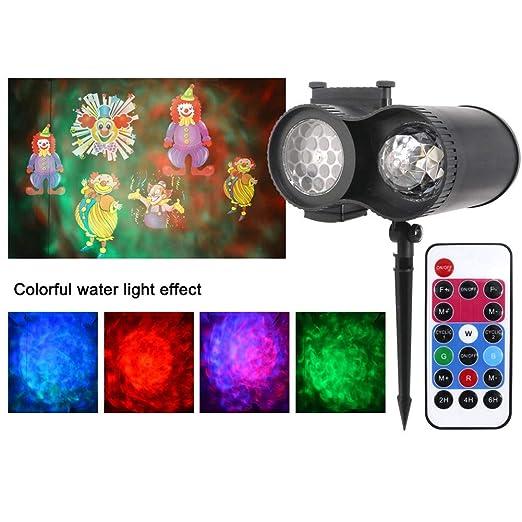 TYSYA Navidad LED de luz del proyector Ola de Agua Bajo Techo en ...