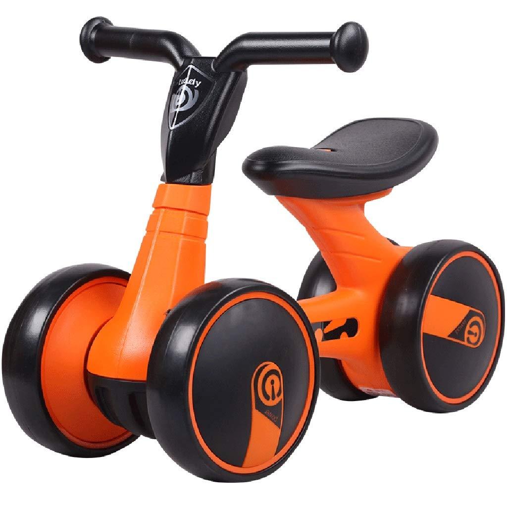 caliente naranja Bicicleta Bicicleta Bicicleta sin pedales Bici Bicicletas de Equilibrio para 1 año de Edad  niños pequeños bebés andadores, 3 Ruedas, Naranja Amarillo (Color   naranja)  autorización oficial