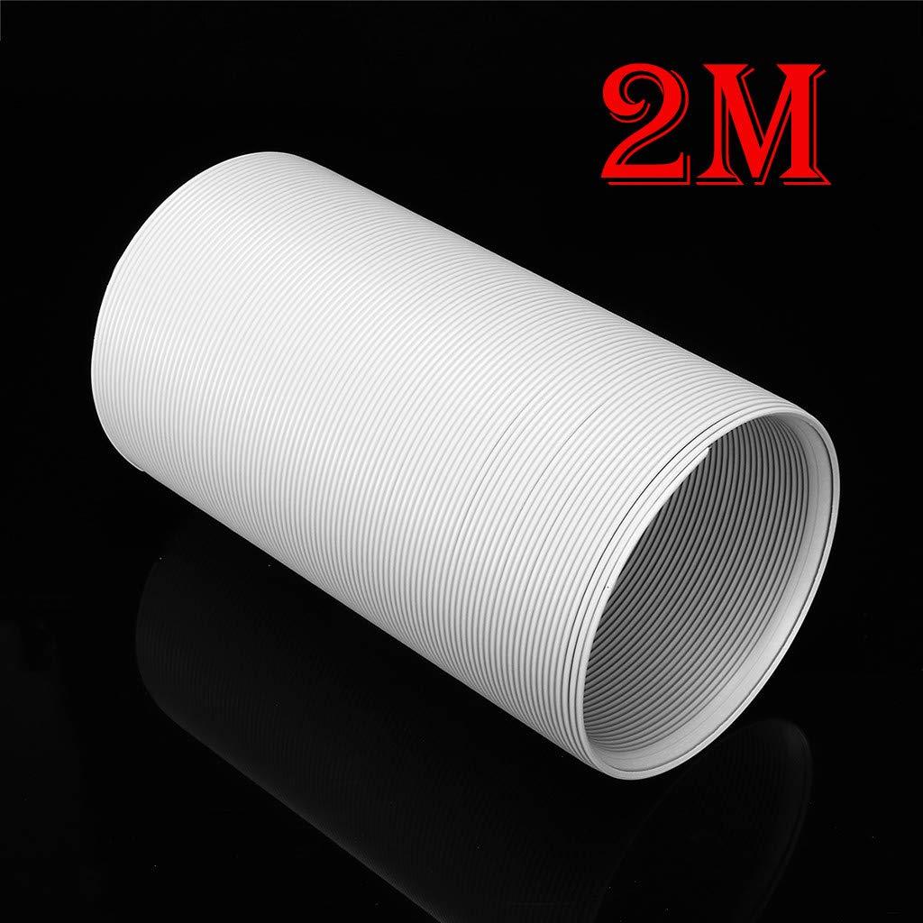 Gaucher Diam/ètre: 13CM Tuyau dEvacuation Flexible PVC Tube de Ventilation Universel Tuyau Kit pour climatiseur Mobile 1,5M*15CM