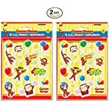 Curious George 4ct Sheets of Stickers - 2 Pack