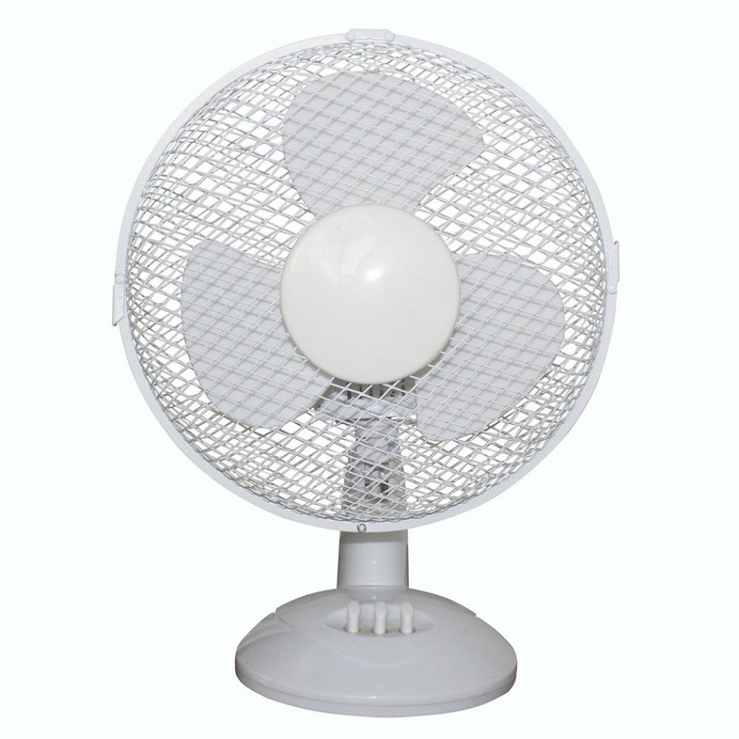Internet Electrical 3-Speed Oscillating Desk Top Fan, 12-Inch, White Internet_8810 Internet-899