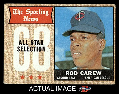 1968 Topps # 363 All-Star Rod Carew Minnesota Twins (Baseball Card) Dean's Cards 4 - VG/EX Twins Rod Carew Minnesota Twins