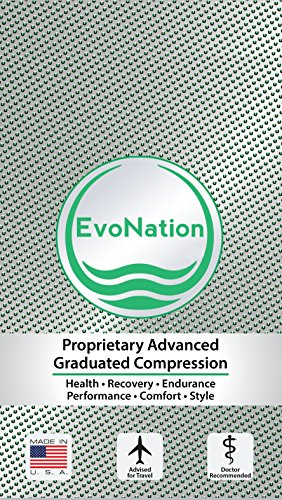 6e56fd494b EvoNation Women's USA Made Thigh High Open Toe Compression Stockings 15-20  mmHg Moderate Pressure