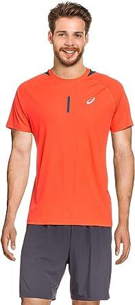 ASICS T shirt running homme Orange: : Vêtements
