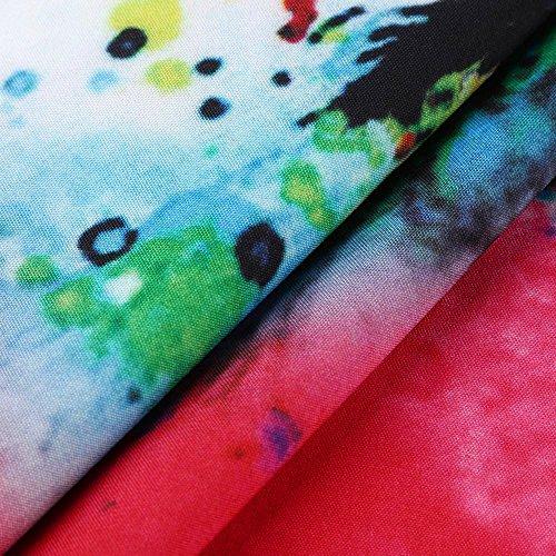 Femme 50's Style e Jupe Robe Femme Chic Robe Soire Robe Weant Floral Robe Soire Bohme 60's U Femme Cocktail Imprim Plisse Femme Blanc Robe Femme Robe de Col de Rtro Vintage gYww8