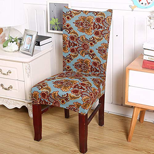 Amazon.com: 1/2/4/6 Pieces European Printing Chair Covers ...