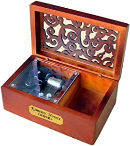 YouTang Creative Hollow Wood 18-Note Wind-up Musical Box,Musical Toys,Tune:Lilium from Elfen Lied