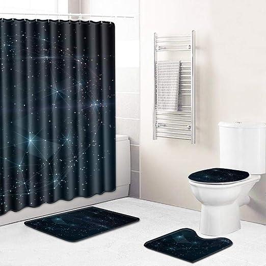 Cxypeng 3 alfombras de baño, 100% algodón,Conjunto de Cuatro ...