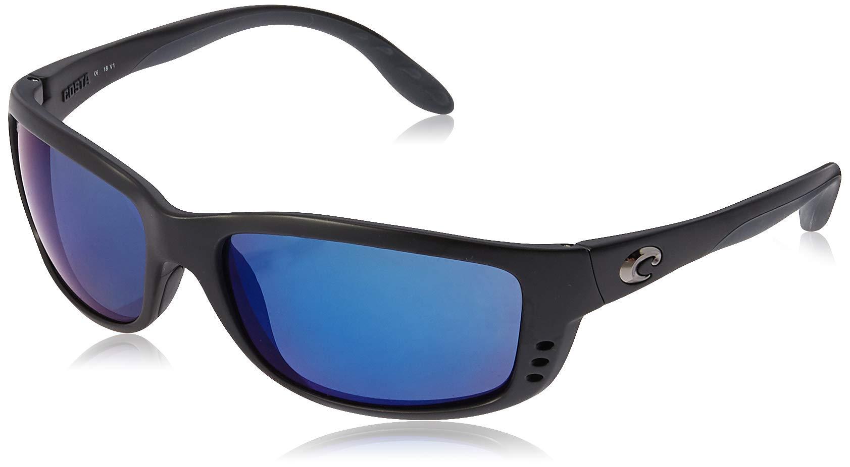 Costa Del Mar Zane Sunglasses, Black, Blue Mirror 580Plastic by Costa Del Mar