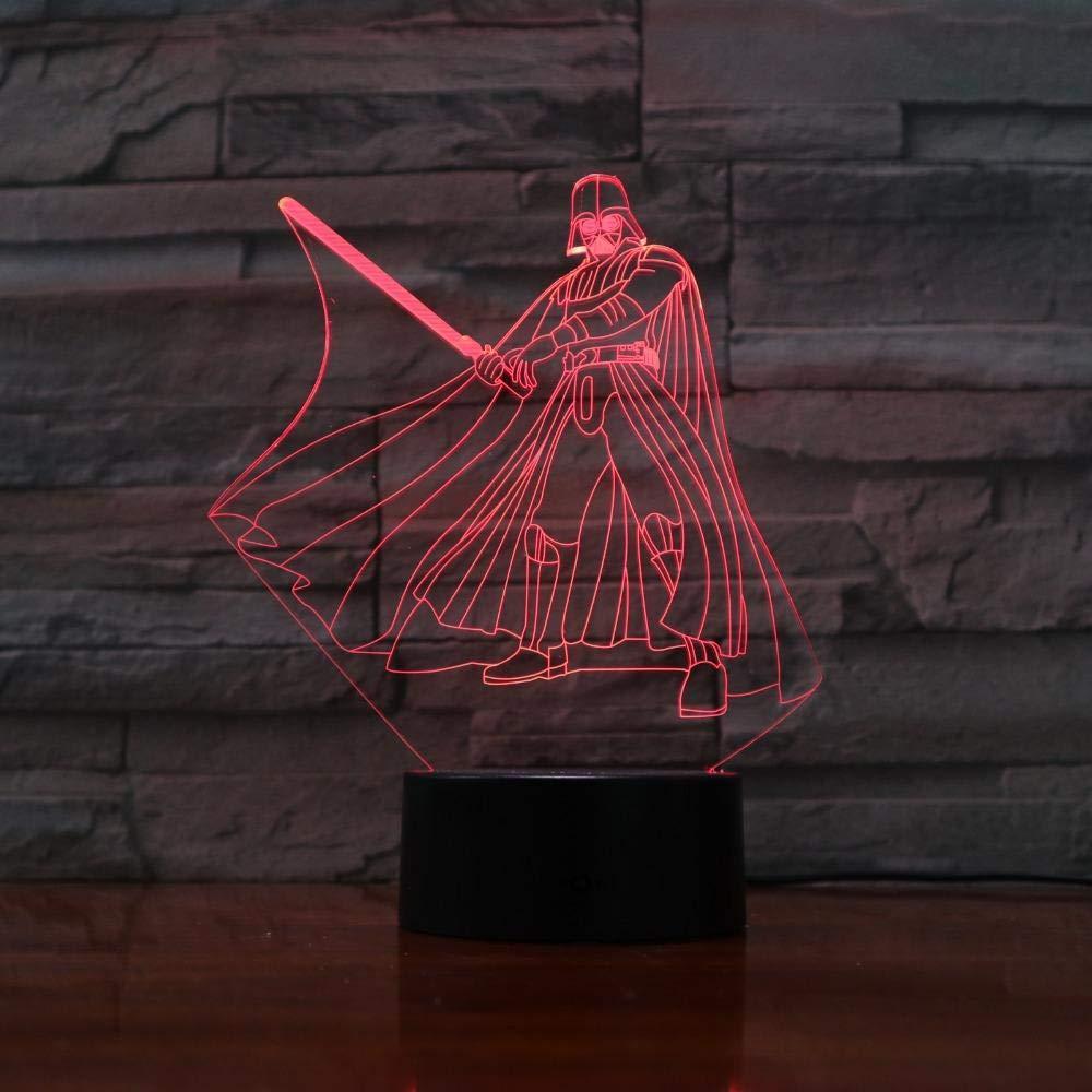 Neuheit 3D Licht Star Wars Yoda Darth Vader LED Nachtlicht USB Tischlampe Nachttischlampe f/ür Kindergeschenke weltweit