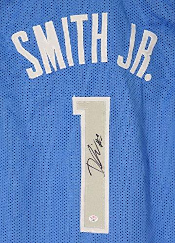 Dennis Smith Jr. Dallas Mavericks Signed Autographed Blue #1 Custom Jersey PAAS - Jersey Mavericks Custom Dallas