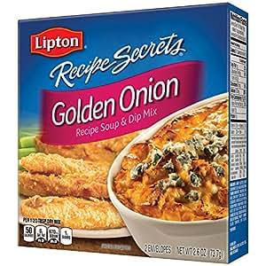 Lipton Recipe Secrets Soup and Dip Mix, Golden Onion 2.6 oz (Pack of 12)