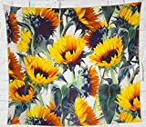 Grace store Boho Wall Tapestry Yellow Sunflower