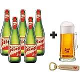 5 Pack de Cervezas Austriacas Stiegl Goldbrau de 330 ml + Tarro de vidrio + Destapador