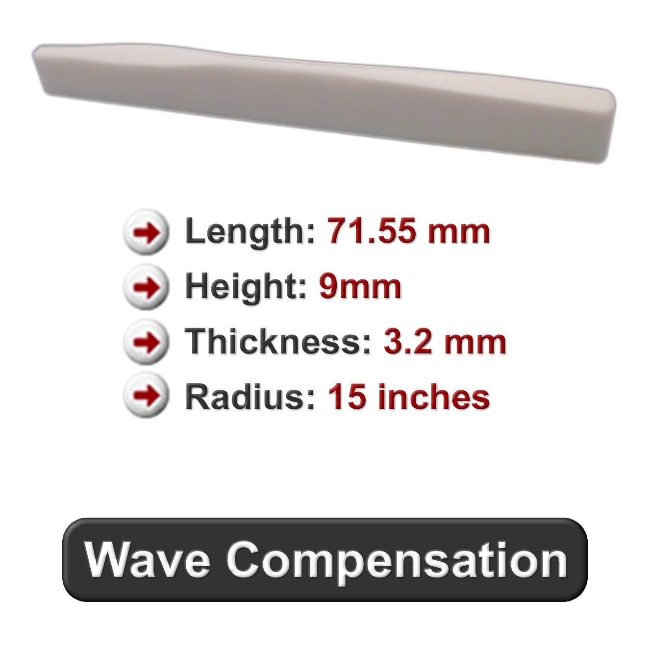 Bone Saddle - Fits Many Taylor Guitars - Wave Style Compensation
