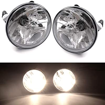 1 Pair Fog Lights Clear Lens Bumper Driving Lamps 12V For Chevy Suburban Tahoe GMC Yukon Ford Mustang 07-14 / Chevy Avalanche 07-13/ Chevy Camaro 10-13/Ford Explorer Sport Trac Escape 08-10: Automotive