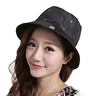 Women Bucket Hat Youth Girl Sun Cap with Round Brim Ladies Men Bush Outdoor  Reversible Fish 31f736274d0