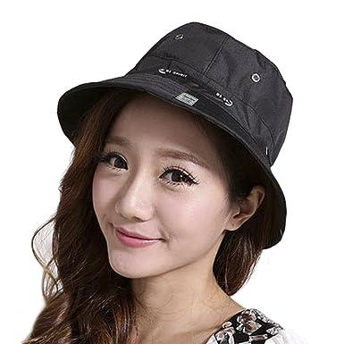 Women Bucket Hat Youth Girl Sun Cap with Round Brim Ladies Men Bush Outdoor  Reversible Fish e0e3bc90acb
