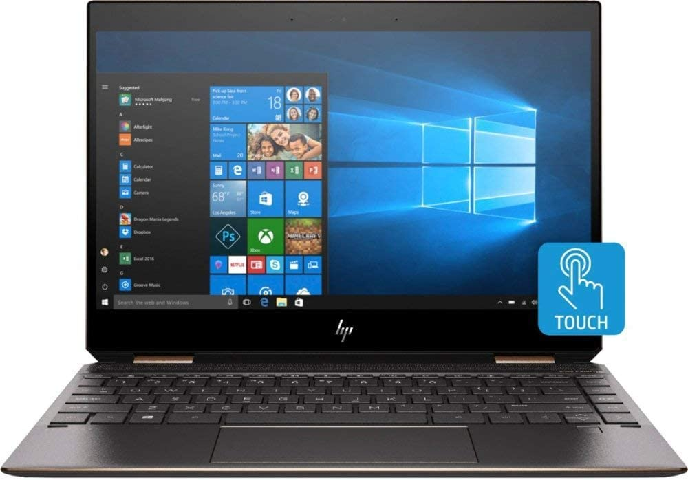 HP Spectre x360 13-ap0013dx Convertible 13.3inch Full HD Touchscreen Notebook Computer, Intel Core i7-8565U 1.8GHz, 8GB RAM, 256GB SSD, Windows 10 Home, Ash Silver - by HP(Renewed)