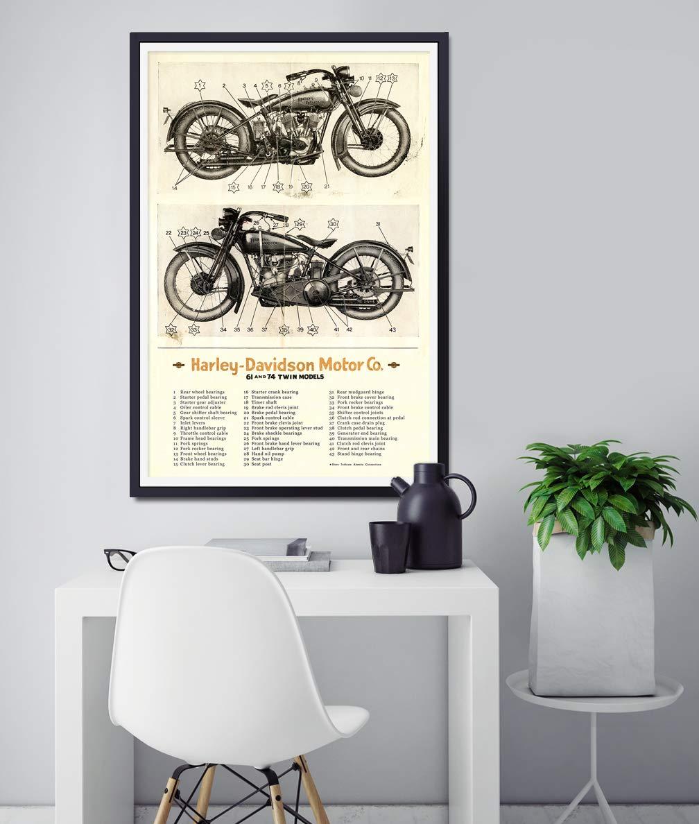 Harley Davidson Motorcycle Parts Diagram