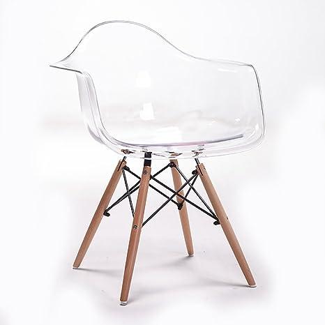 Sedie Plastica Trasparente Design.Lhcy Poltrona Da Pranzo Sedia Trasparente Corrimano Semplice Design