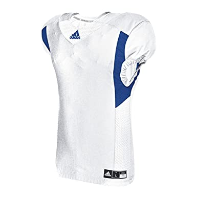 110281b198b Image Unavailable. Image not available for. Color: adidas Techfit Hyped  Football Jersey S White-Collegiate Royal