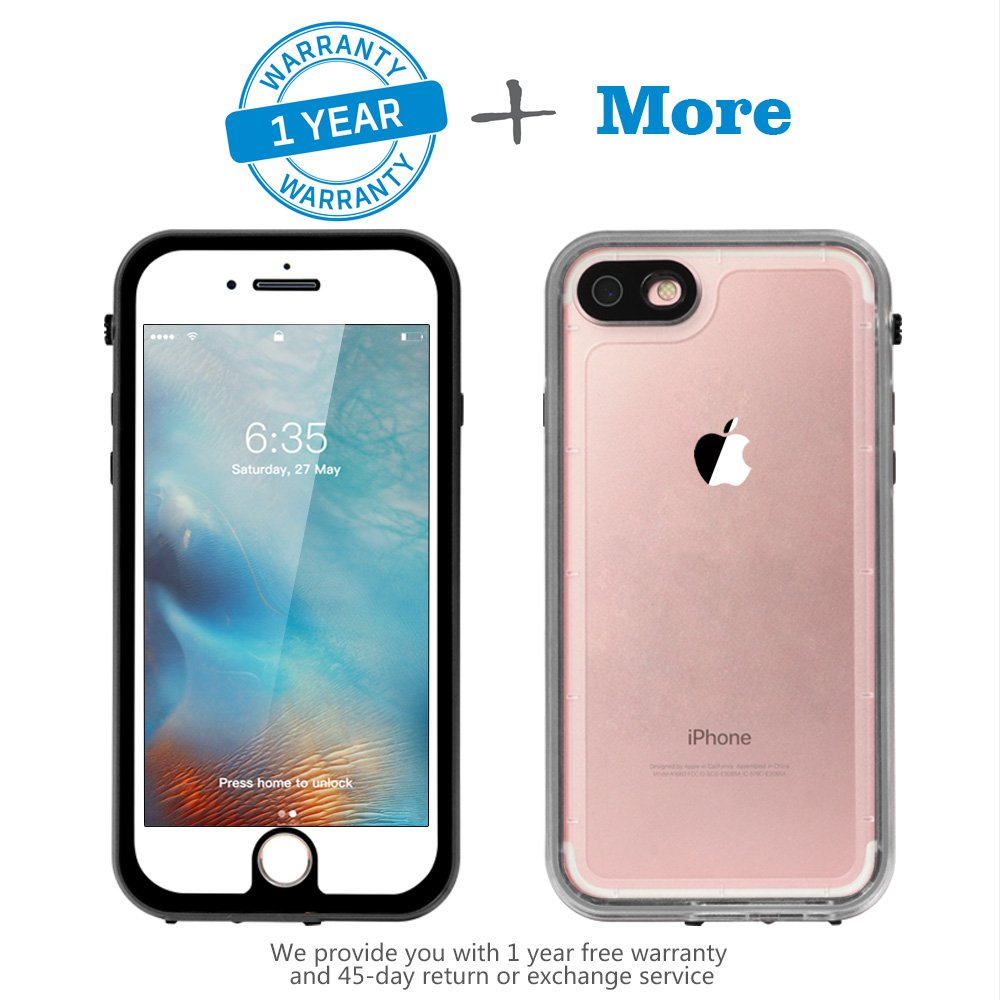 Besinpo Waterproof Case For Iphone 7, Iphone 7 Underwater Cases Full Body Protective Cover 4.7 Inch Only