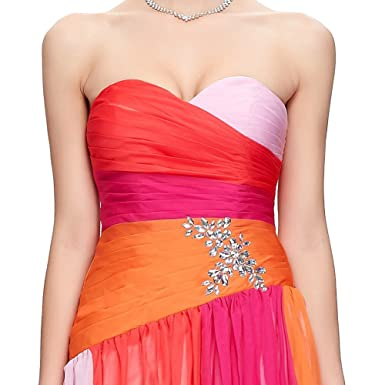 34eca31a CK sky Women's Plus Size Gradient Ombre Red Blue Long Gown Elegant Strapless  Evening Party Dress at Amazon Women's Clothing store: