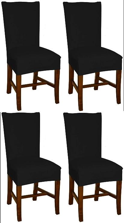 Ofnmy Pack de 4-Chaise moderne élastique Stretch Chaise Housse Amovible sièges