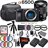 Sony Alpha a6500 Mirrorless Digital Camera (Body Only) International Version (No Warranty) + 24-70mm f/4 ZA Lens Bundle