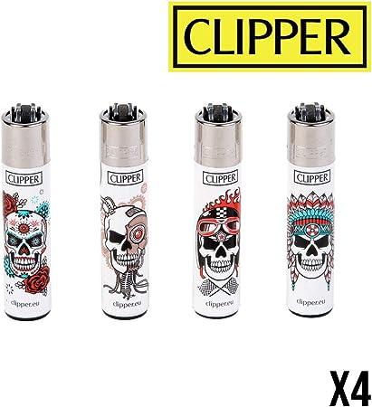 CLIPPER WHITE SKULLS X4