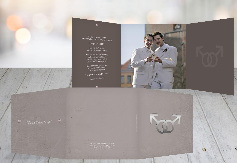 Kartenparadies Danksagung für Hochzeitsgeschenke Danke Im Zeichen der Liebe - Männer, hochwertige Danksagungskarte Hochzeitsglückwünsche inklusive Umschläge   10 Karten - (Format  145x145 mm) Farbe  dunkelOrange B01MR8K316 | Neuhe