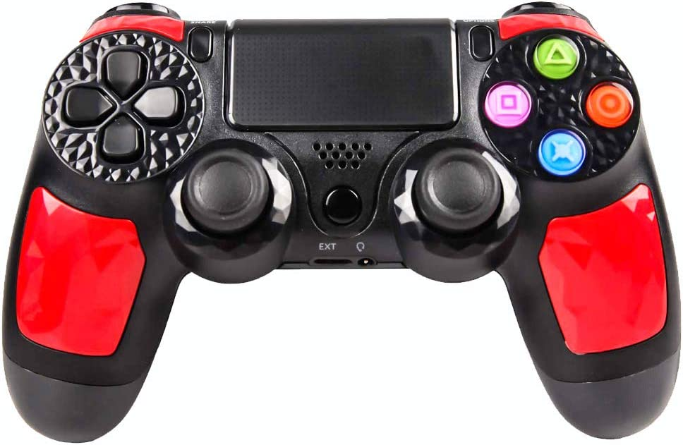 PS4 Controller Wireless Gaming Controller,Instant Sharing of joysticks Gamepad for Playstation 4/Pro/Slim/PC and Laptop - Red