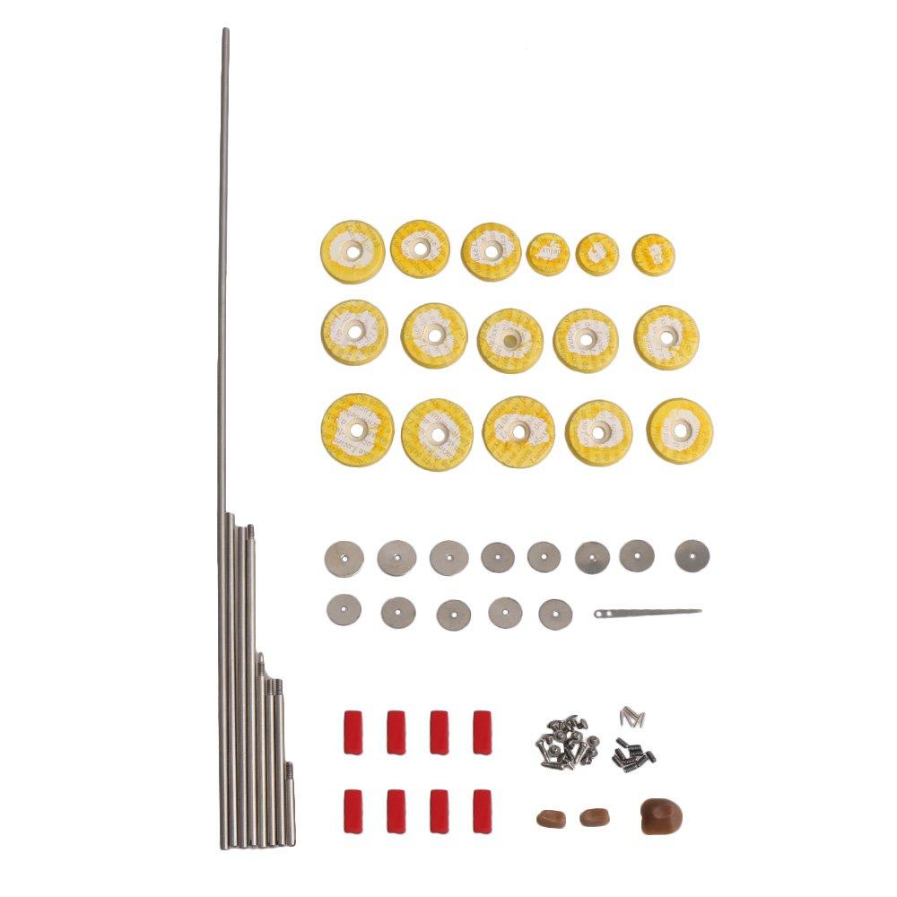 Yibuy Juego de piezas de reparación de flauta de 16 piezas de almohadillas de sonido de agujero abierto para instrumentos de viento etfshop M7180312004