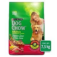 Dog Chow Comida para Perro Adulto Razas Grandes, Carne, 7.5 Kg, Grande