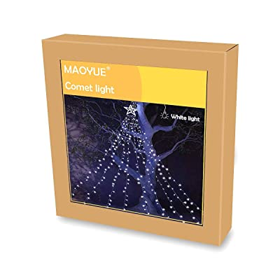 MAOYUE Outdoor Christmas Decorations 335 LED Star Lights 8 Lighting Modes Outside Tree Decoration Lights for New Year, Holiday, Wedding, Party