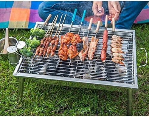 1-3 Personnes Cuisinière BBQ portable Mini Barbecue Grill rack en acier inoxydable pliant barbecue charbon Poêle Râper Kebab Machine for camping en plein air