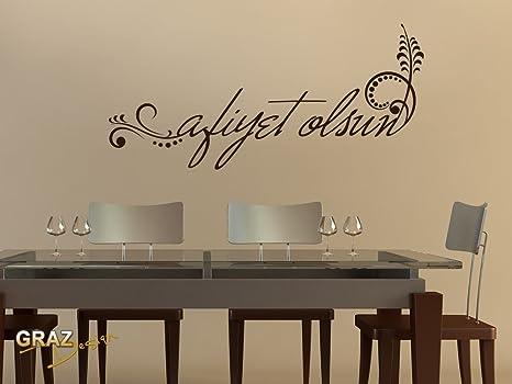 Adesivo da parete per cucina piastrelle tatuaggio con scritta afiyet