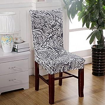 amazon com dining room decoration jacquard chair covers spandex rh amazon com Dining Room Chair Seat Covers Dining Room Chair Cover Kit