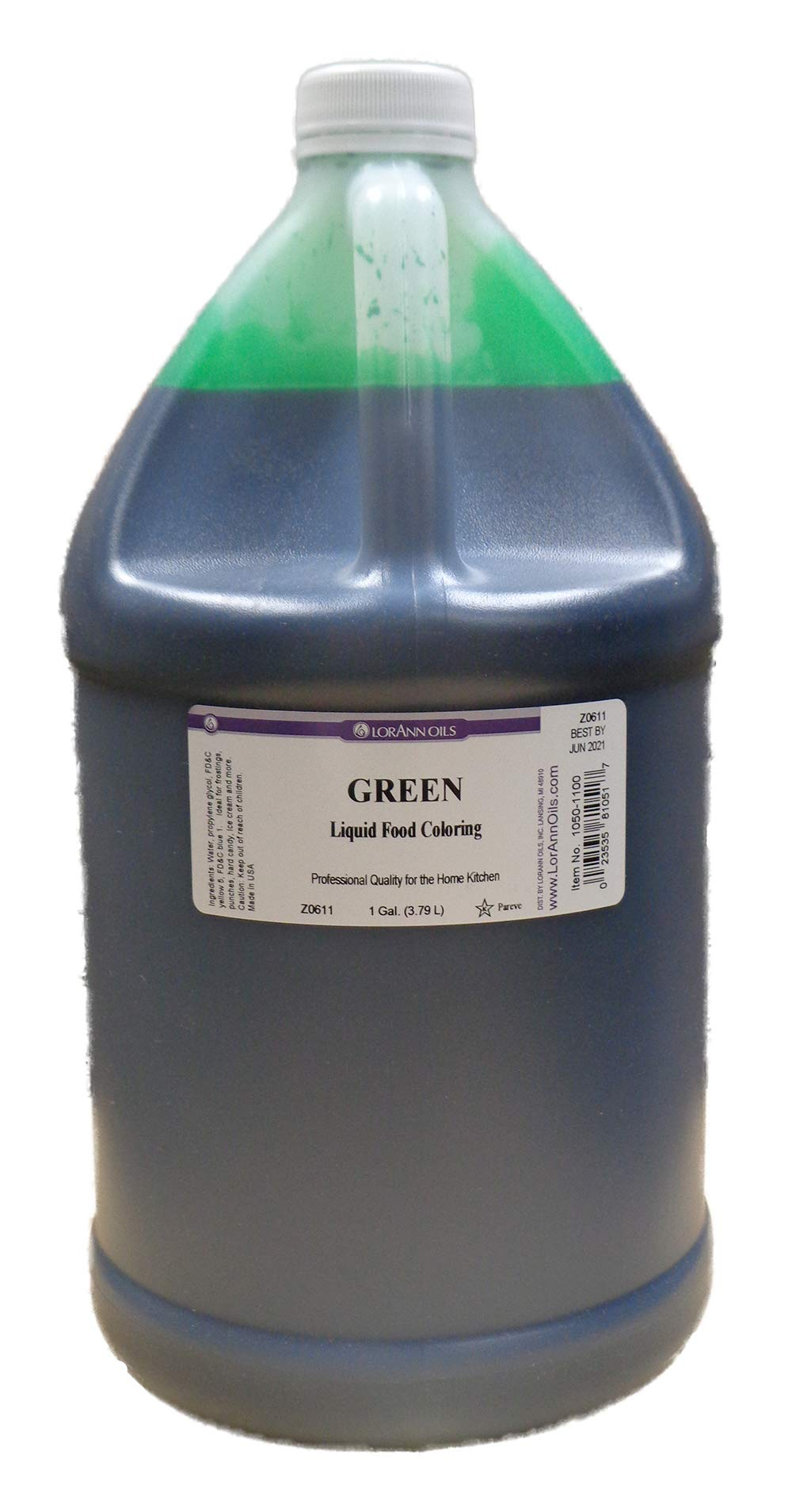 LorAnn Green Liquid Food Color, Gallon Size by Unknown
