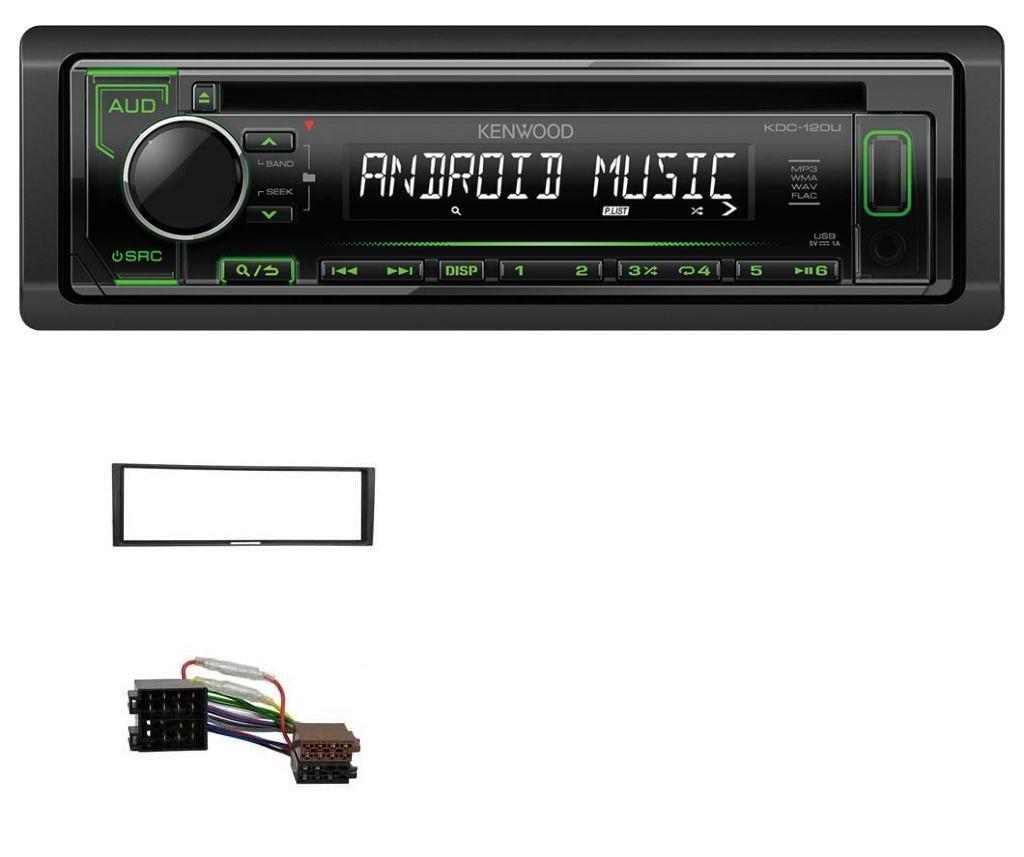 caraudio24 Kenwood KDC-120UG 1DIN USB CD MP3 Aux Autoradio fü r Renault Megane Megane Scenic Modus Clio